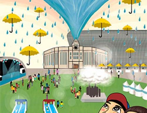 보고, 맞고, 즐기는 빗물 축제(Rain Festival)